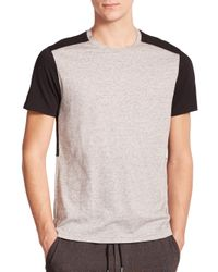 Vince | Gray Colorblock Tee for Men | Lyst