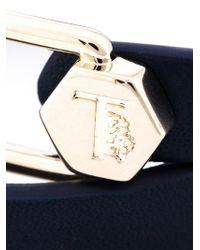 Tod's Black Metal Pin Wrap Bracelet