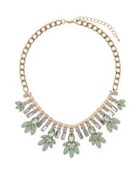 Mikey | Green Crystal Enamel Flower Hanging Necklace | Lyst