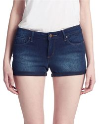 Jessica Simpson | Blue Forever Roll-Cuff Denim Shorts | Lyst