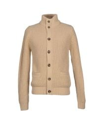 GAUDI - Natural Cardigan for Men - Lyst