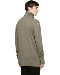Nude:mm Gray Taupe Wool Turtleneck for men