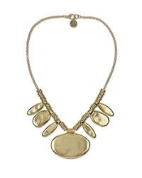 Sam Edelman | Metallic Stone Age Oval Statement Necklace | Lyst