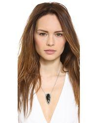 Pamela Love Black Arrowhead Pendant Necklace