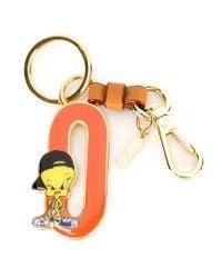 Moschino Orange Tweety O Keyring
