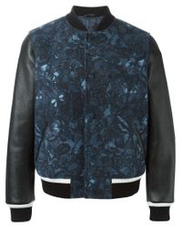 Valentino - Blue 'camubutterfly' Varsity Jacket for Men - Lyst