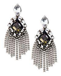 DANNIJO | Metallic Allegra Crystal Drop Earrings | Lyst