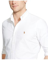Polo Ralph Lauren | White Solid Oxford Shirt for Men | Lyst
