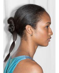 & Other Stories   Metallic Gemstone Drop Back Earrings   Lyst