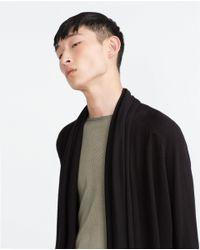 Zara | Black Asymmetric Jacket for Men | Lyst