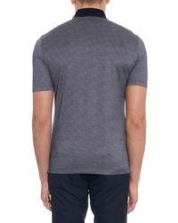 Ermenegildo Zegna Gray Cotton And Silk-Blend Polo Shirt for men
