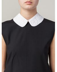 N°21 | White Embroidered Collar Necklace | Lyst