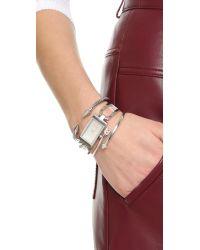 Rebecca Minkoff - Metallic Arrow Hinge Bracelet - Lyst