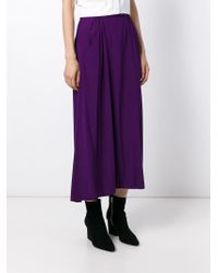 Zero + Maria Cornejo | Purple Elasticated Waist Skirt | Lyst