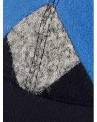 KENZO - Blue Geometric Panel Cap for Men - Lyst