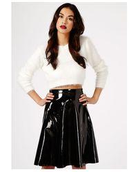 Missguided Black Mikako Pvc Full Midi Skirt
