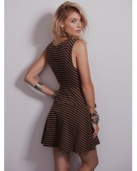 Free People Brown Womens Cha Cha Dropwaist Fit And Flare