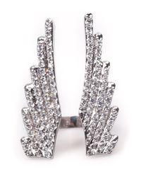 Joanna Laura Constantine - Metallic Wing Split Ring - Lyst