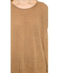 Madewell - Brown Merino Myra Sweater - Marled Caramel - Lyst