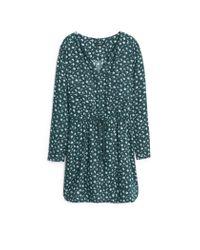 Mango | Green Belt Printed Dress | Lyst