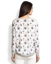 Generation Love - Gray Floral-Print Dropped-Shoulder Sweatshirt - Lyst
