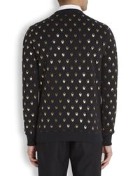 Markus Lupfer Black Skull Print Cotton Sweatshirt for men