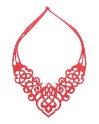 40weft Red Necklace