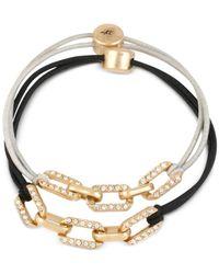 Kenneth Cole | Metallic Gold-tone Pavé Link Stretch Bracelet Set | Lyst