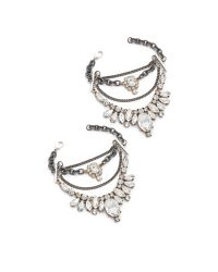 Laura Cantu - Metallic Embellished Crystal Anklet Set - Lyst