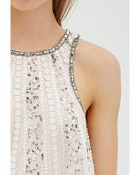 Forever 21 - Pink Sequin Racerback Top - Lyst