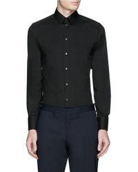Dolce & Gabbana Black 'gold' Stretch Poplin Shirt for men