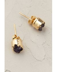 Anthropologie | Purple Crystalline Post Earrings | Lyst