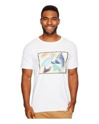 O'neill Sportswear - White Drivers Short Sleeve Screen Tee for Men - Lyst