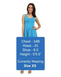Mod-o-doc - Blue Cotton Modal Spandex Jersey Hanky Hem Tank Dress - Lyst