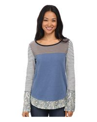 Jag Jeans - Blue Ellie Tee Classic Fit Shirt Striped Jersey - Lyst