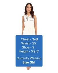 Brigitte Bailey - White Kahla Accent Pocket Dress - Lyst