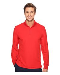 e0e1c98eb Lyst - Under Armour Ua Tac Performance Polo Long Sleeve in Red for Men