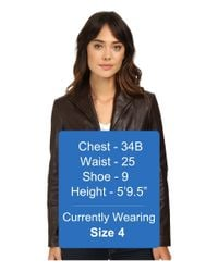 Cole Haan - Brown Leather Jacket - Lyst