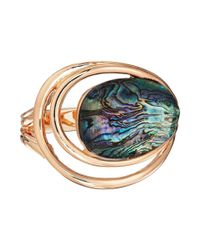 Robert Lee Morris - Multicolor Abalone And Gold Hinge Bangle - Lyst