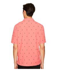 Just Cavalli - Pink Palm Tree Short Sleeve Shirt for Men - Lyst