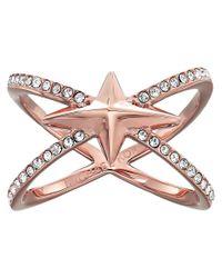 Michael Kors - Multicolor Starburst Pave X Ring - Lyst