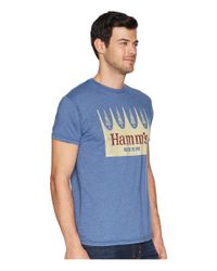 The Original Retro Brand - Blue Vintage Heathered Hamms Beer Tee for Men - Lyst