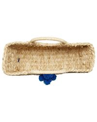 Hat Attack - Multicolor Round Handle Tote W/ Pom Poms - Lyst