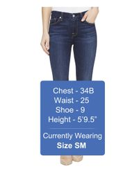 7 For All Mankind - Blue Kimmie Crop In Santiago Canyon - Lyst