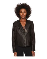 Vince - Black Leather Cross Front Jacket - Lyst