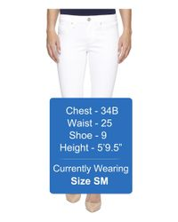 Mavi Jeans - Alexa Ankle Mid-rise Skinny In White Tribeca - Lyst