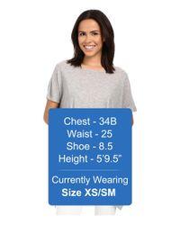 Kensie - Gray Shiny Rayon Jersey Top Ks4k3014 - Lyst