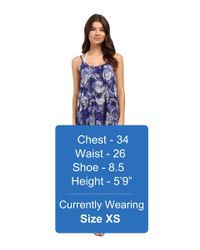 Roxy - Blue Windy Fly Away Print Dress Cover-up - Lyst