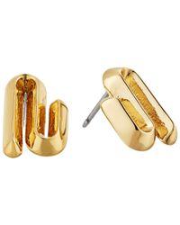 Eddie Borgo - Metallic Trace Studs Earrings - Lyst