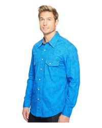 Rock And Roll Cowboy - Blue Long Sleeve Snap B2s2067 for Men - Lyst